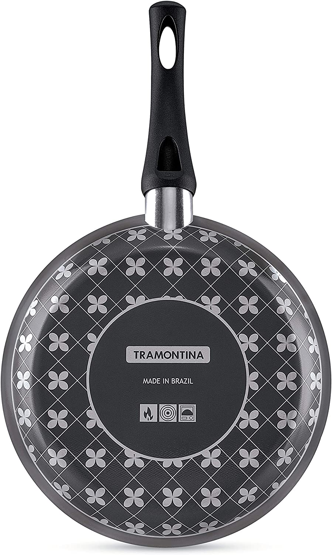 Frigideira Tramontina Paris em Alumínio com Revestimento Interno Antiaderente Starflon T1 e Externo de Silicone com Espátula Preto 20 cm 0,8 L  Tramontina 20150620