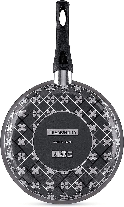 Frigideira Tramontina Paris em Alumínio com Revestimento Interno Antiaderente Starflon T1 e Externo de Silicone com Espátula Preto 22 cm 1,0 L  Tramontina 20150622