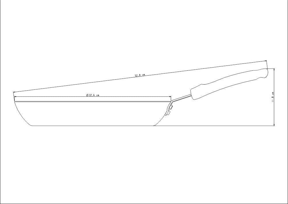 Frigideira Tramontina Profissional em Alumínio Acabamento Externo Lixado com Revestimento Interno Antiaderente Starflon T3 Cabo Baquelite 30 cm 2,3 L  Tramontina 20892030