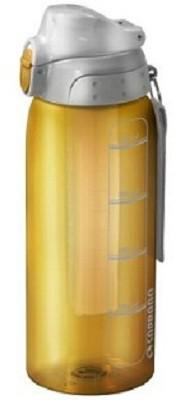 Garrafa Squeeze 750ml Com Tubo De Gelo Não Vaza Amarelo