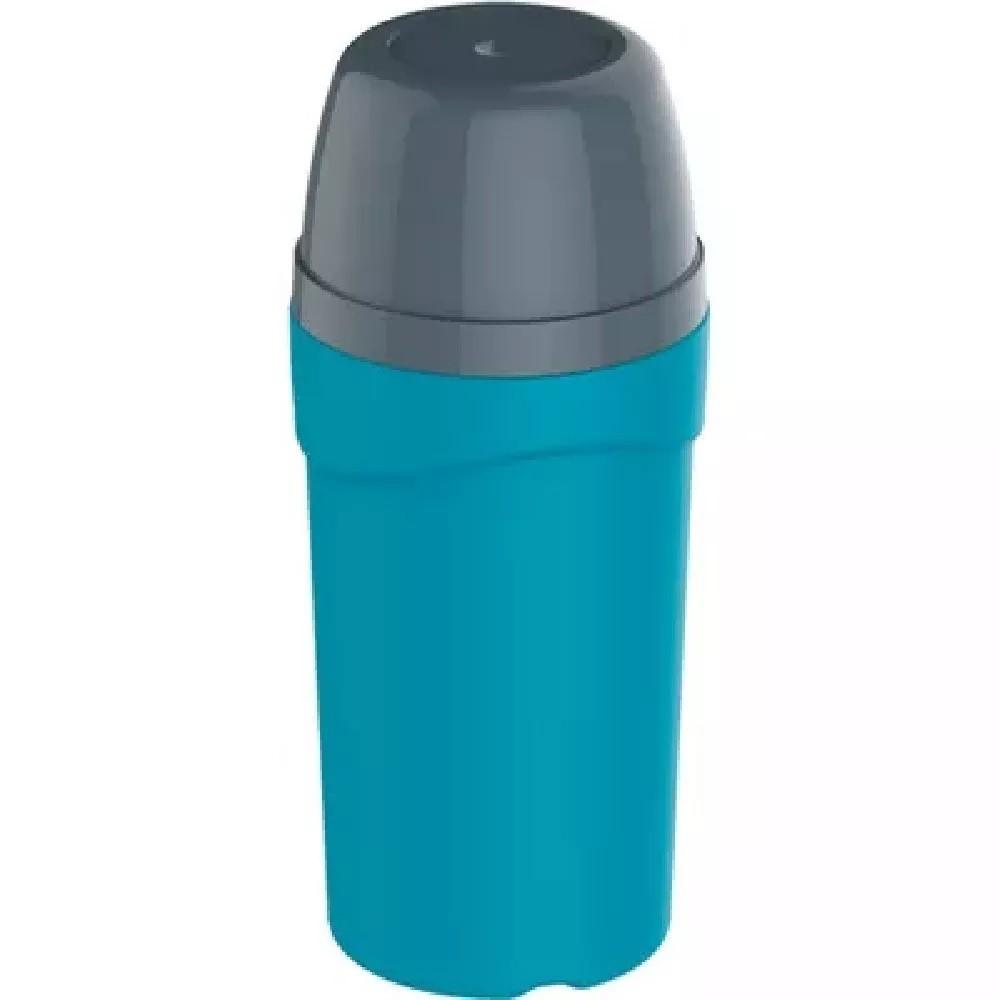 Garrafa Térmica Yuma Com Rosca Agua Suco 300 Ml Azul
