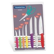Jogo de Facas Tramontina Plenus com Lâminas em Aço Inox e Cabos de Polipropileno Colorido 8 Peças  Tramontina 23498917