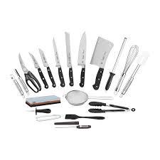 Kit para Chefs Tramontina Century com Lâminas em Aço Inox e Cabos de Policarbonato e Fibra de Vidro com Maleta 20 Peças  Tramontina 24099027