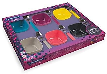 Kit para Sobremesa Tramontina Mixcolor 12 Peças  Tramontina 25099943