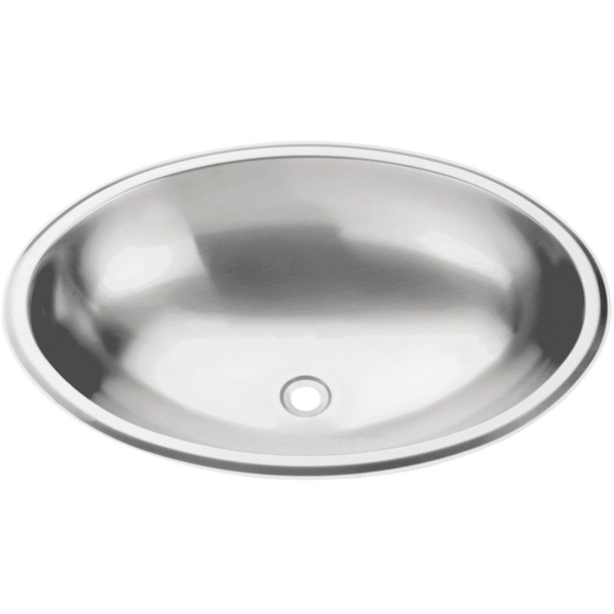 Lavabo Oval de sobrepor Tramontina em Aço Inox com Acabamento Acetinado 40x27 cm  Tramontina 94115107