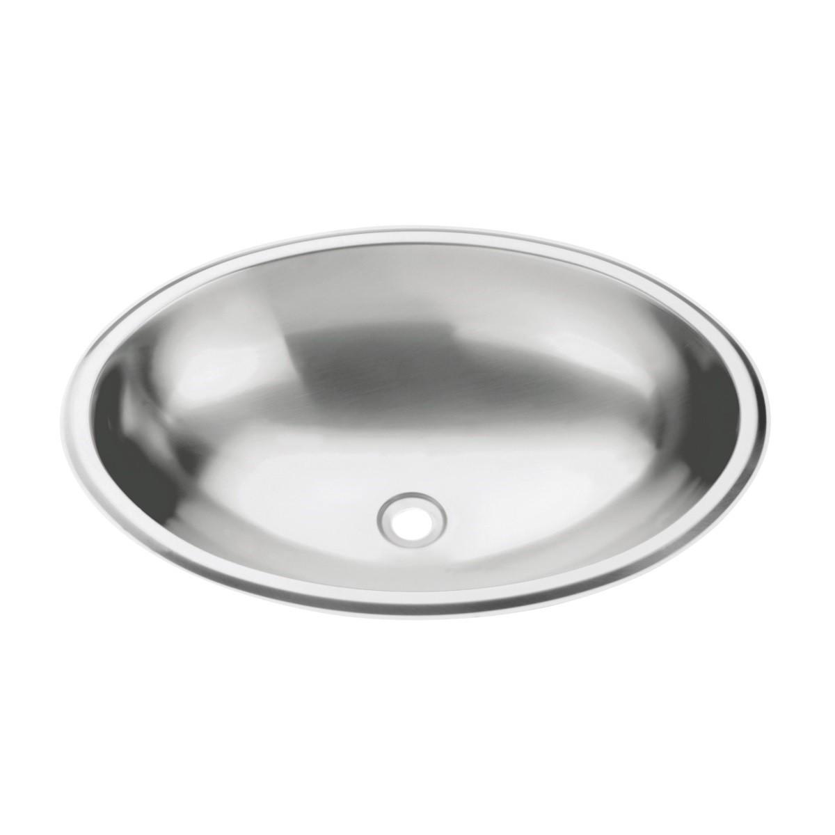 Lavabo Oval de sobrepor Tramontina em Aço Inox com Acabamento Alto Brilho 36 x 26 cm  Tramontina 94113207