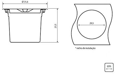Lixeira de Embutir Tramontina Clean Round em Aço Inox com Balde Plástico 8 L  Tramontina 94518000