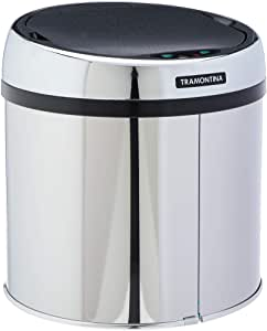 Lixeira Inox Tramontina Easy Automática com Sensor e Acabamento Polido 6 L  Tramontina 94543006