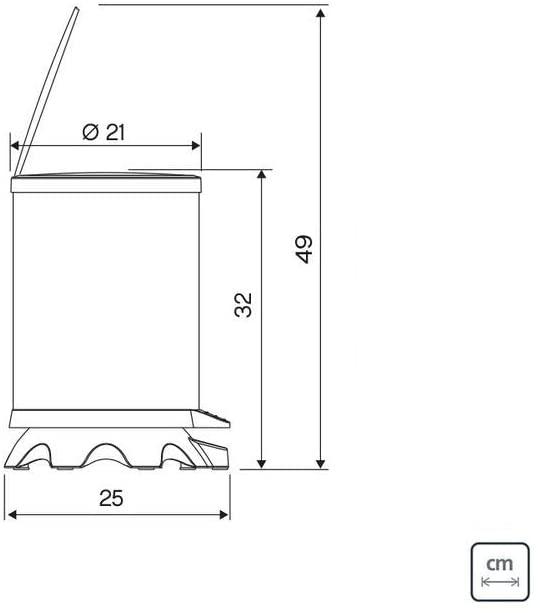 Lixeira Inox Tramontina Sofie com Corpo em Inox com Acabamento Scotch Brite e Detalhes em Plástico Translúcido Preto com Pedal 5 L  Tramontina 94538801