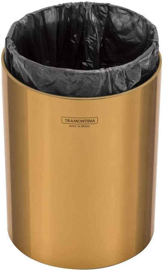 Lixeira Tramontina Útil em Aço Inox Polido com Revestimento Gold 5 L  Tramontina 94540051