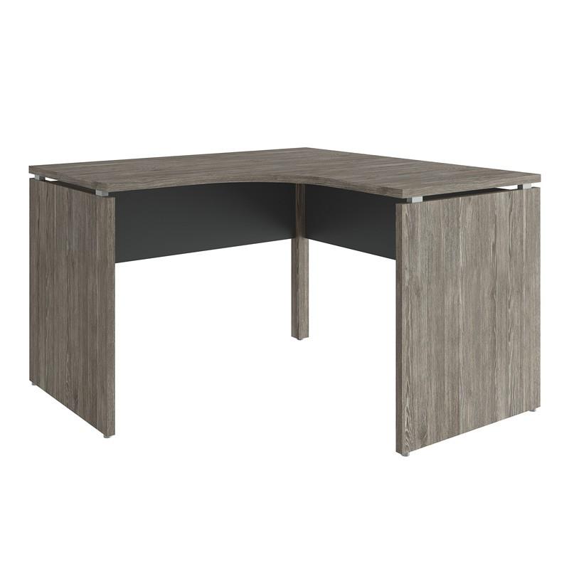 Mesa para Escritório Curva 1600x1600 Win Naturale com Preto