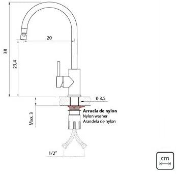 Misturador Monocomando Tramontina Arko em Aço Inox com Bica Articulada  Tramontina 94520010