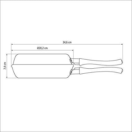Omeleteira de alumínio com revestimento interno de antiaderente Ø20cm  Tramontina 20123920