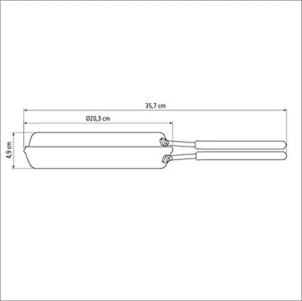 Omeleteira de alumínio com revestimento interno de antiaderente Ø20cm  Tramontina 20687020