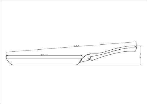 Panquequeira Tramontina Profissional em Alumínio Acabamento Externo Lixado com Revestimento Interno Antiaderente Starflon T3 22 cm 0,6 L  Tramontina 20894022