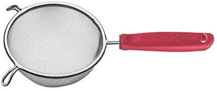 Peneira Tramontina Utilitá em Aço Inox com Cabo de Polipropileno Vermelho 14 cm  Tramontina 25680172