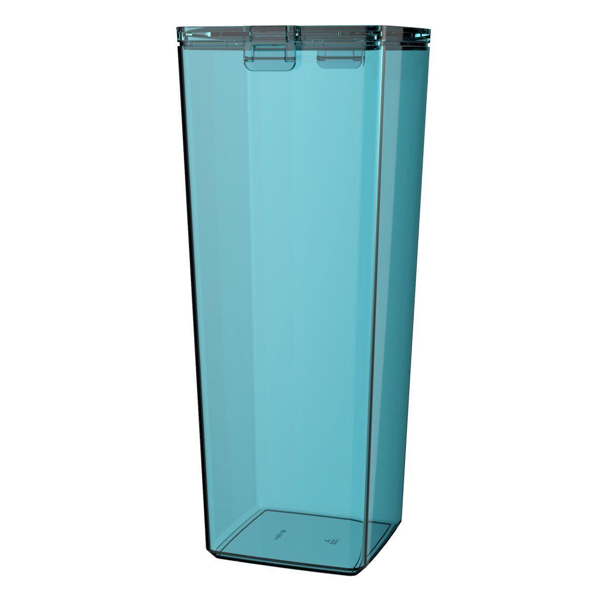 Pote Hermético 3L Azul Turquesa Transparente