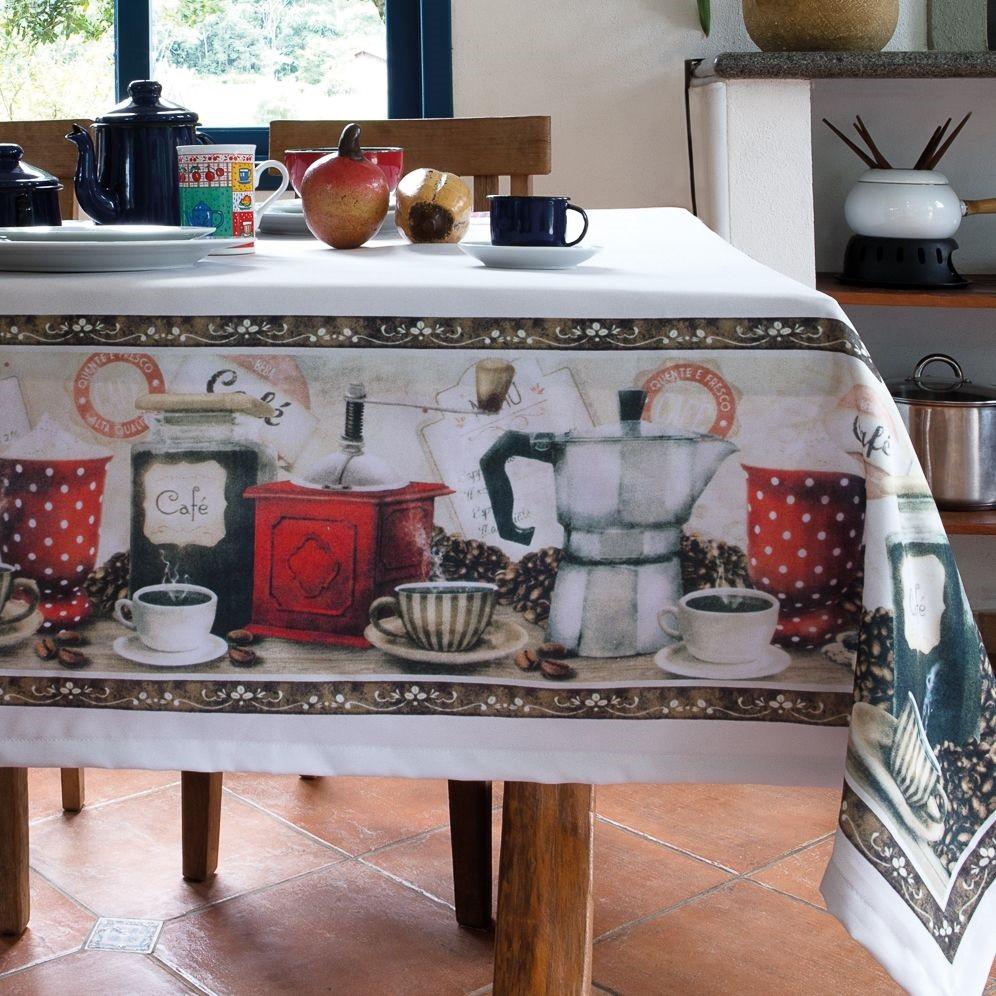 Toalha de mesa Quadrada 04 Lugares - Cafeine