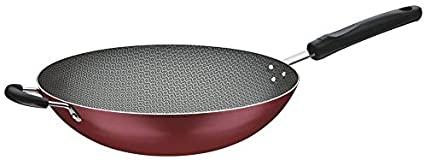 Wok Tramontina Loreto em Alumínio com Revestimento Interno Antiaderente Starflon T1 com Cabo Baquelite Vermelha 36 cm 6 L  Tramontina 20252736