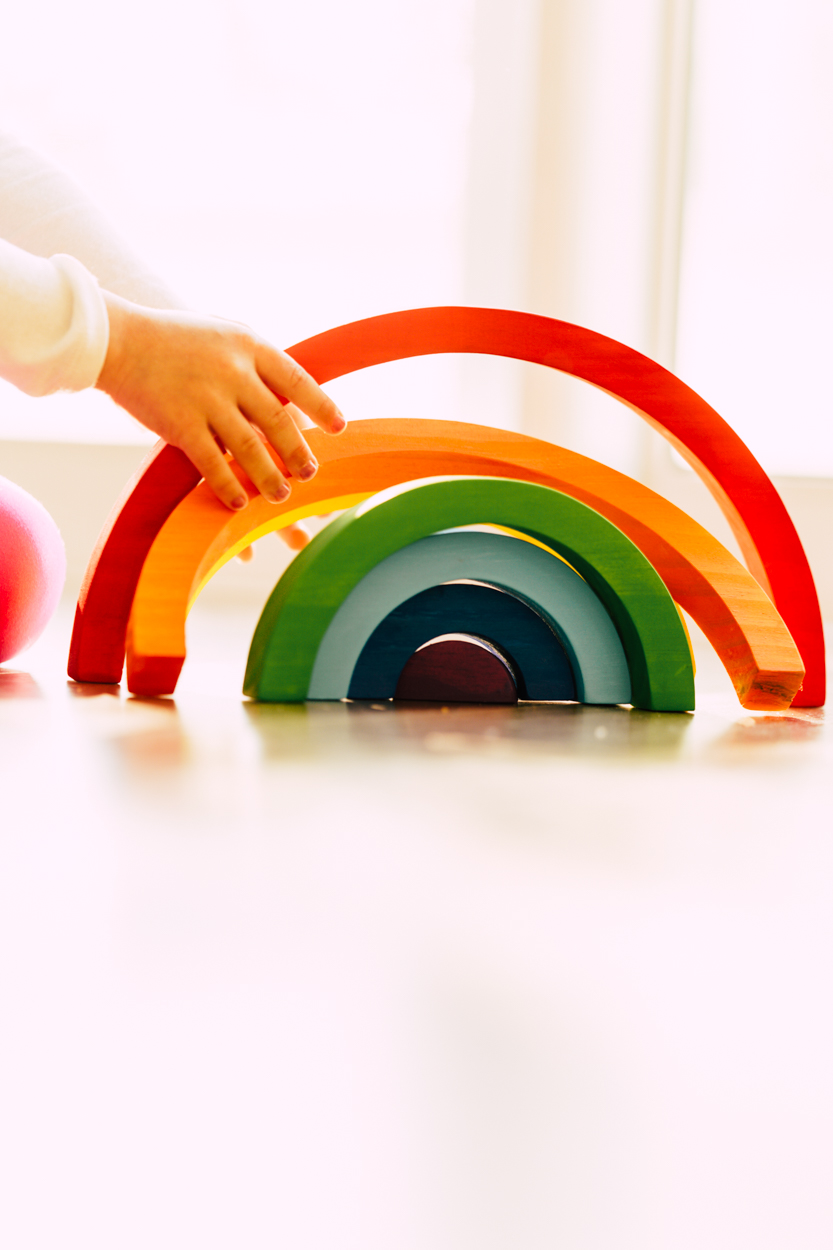 Arco-íris Waldorf Colorido Pequeno
