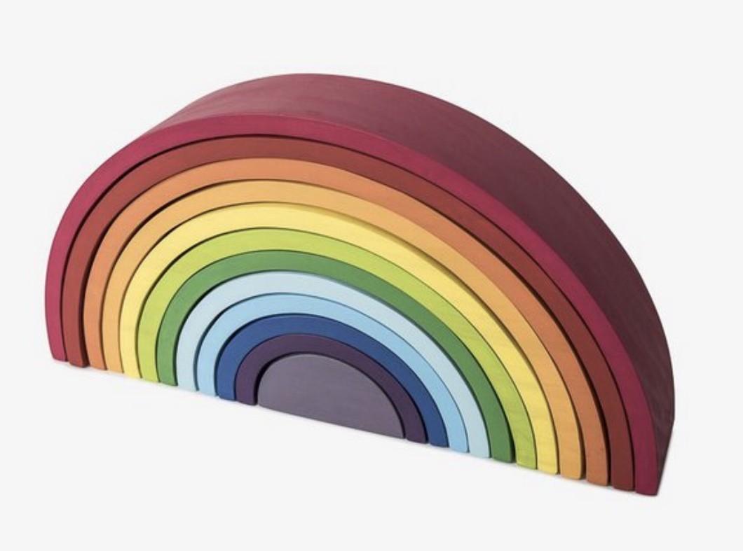 Arco-íris Waldorf Gigante 12 peças - colorido