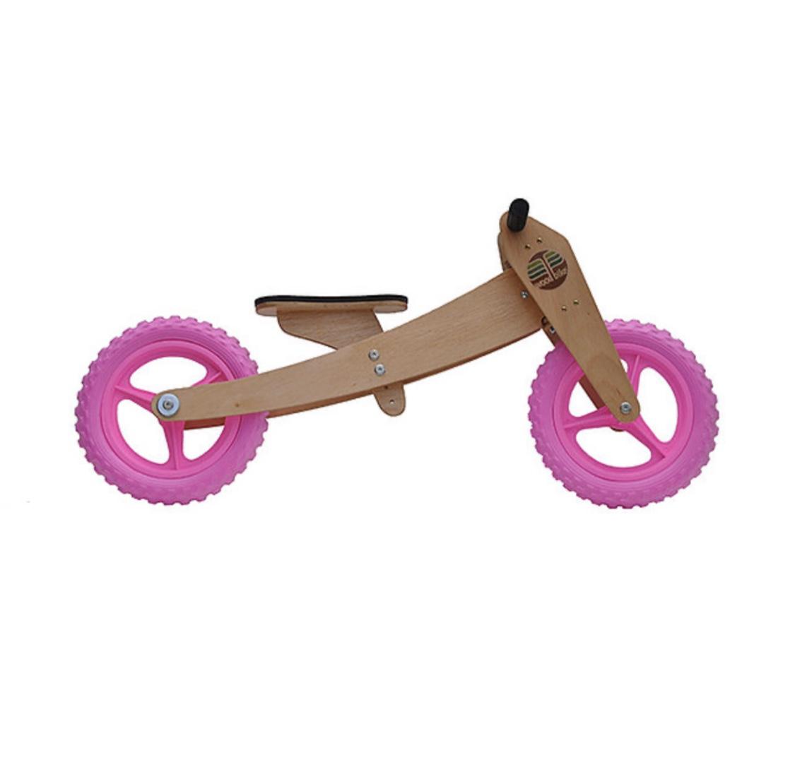 Bicicleta de Madeira 2-em-1 Rosa  - Woodbike