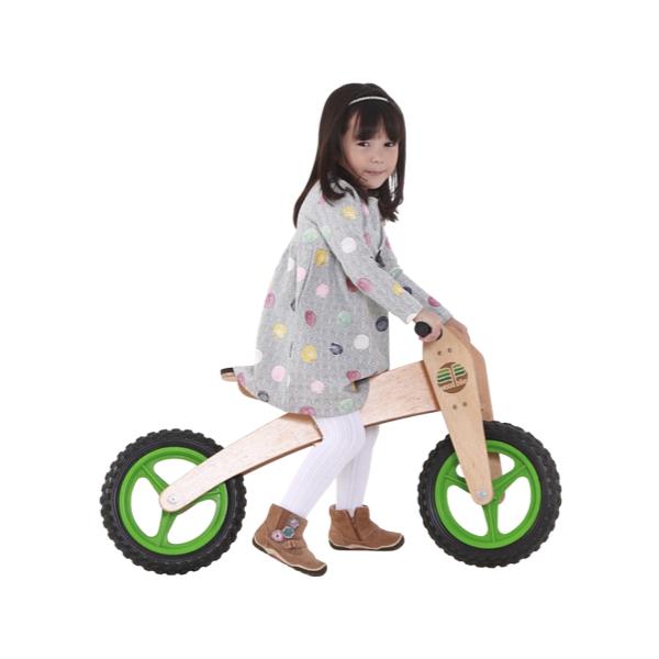 Bicicleta de Madeira 2-em-1 Verde  - Woodbike