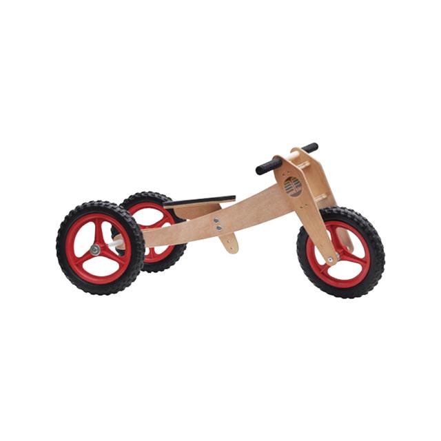 Bicicleta de Madeira 3-em-1 Vermelha - Woodbike