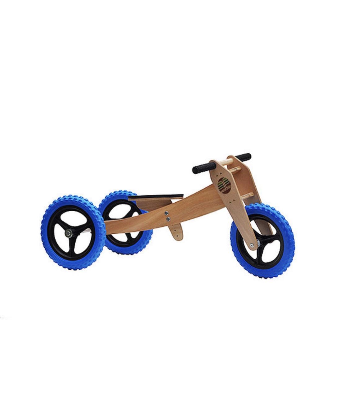 Bicicleta de Madeira 3-em-1 Azul - Woodbike