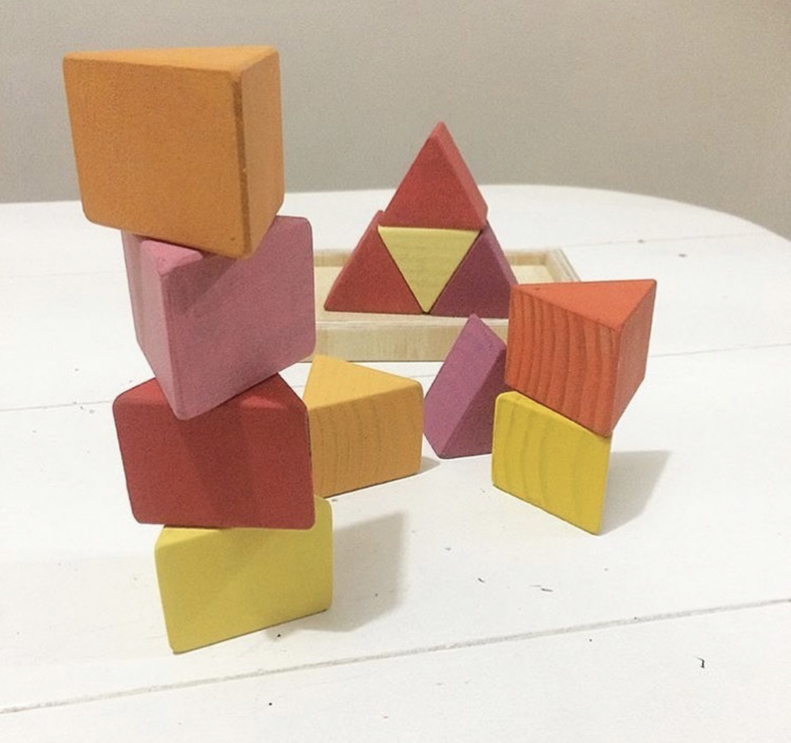 Blocos de Madeira 9 Triângulos