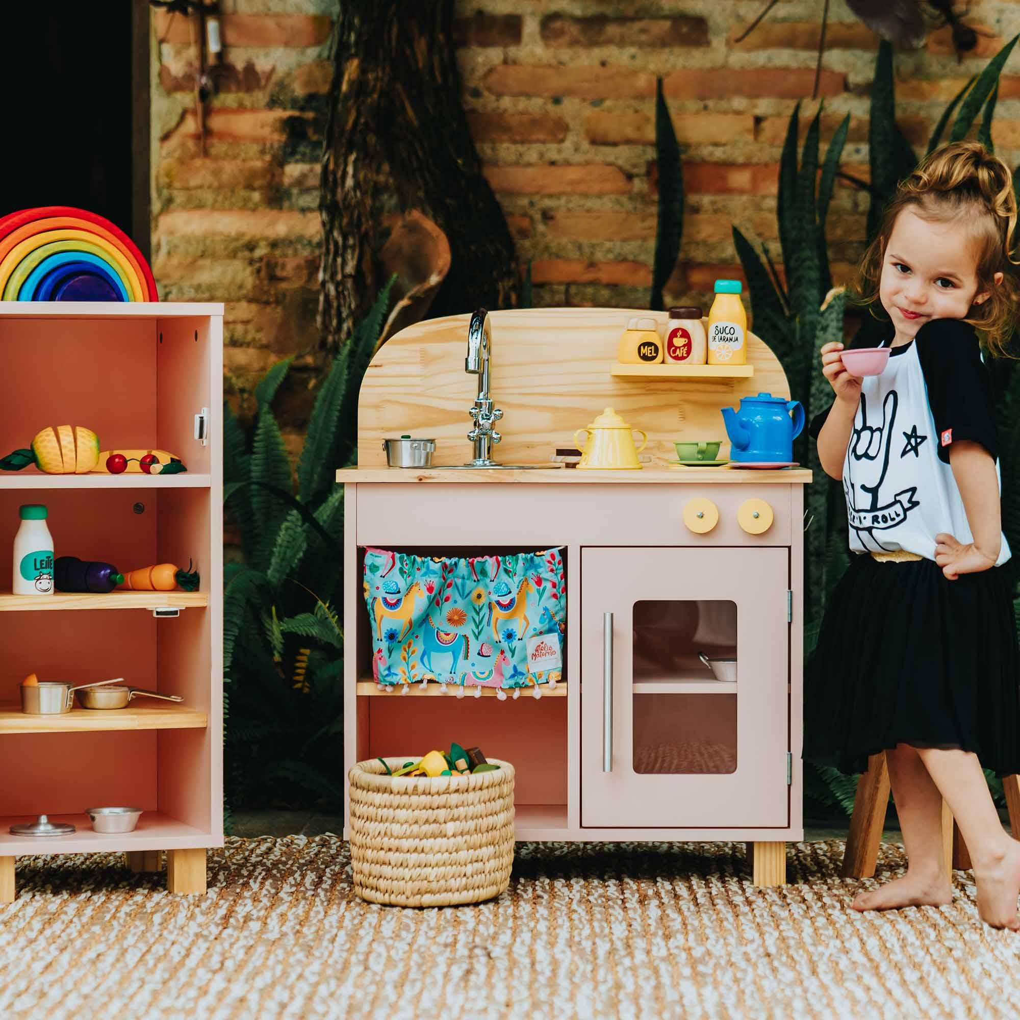 Kit Chá Infantil Rosa