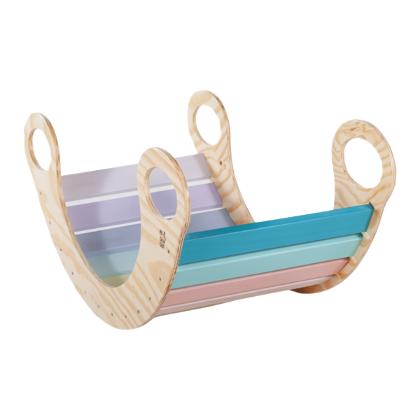 Kit Triângulo Articulado Rampa Lisa + Gangorra Candy Colors