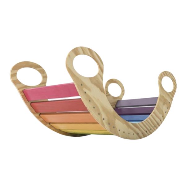 Kit Triângulo Articulado Rampa Lisa + Gangorra Colorida