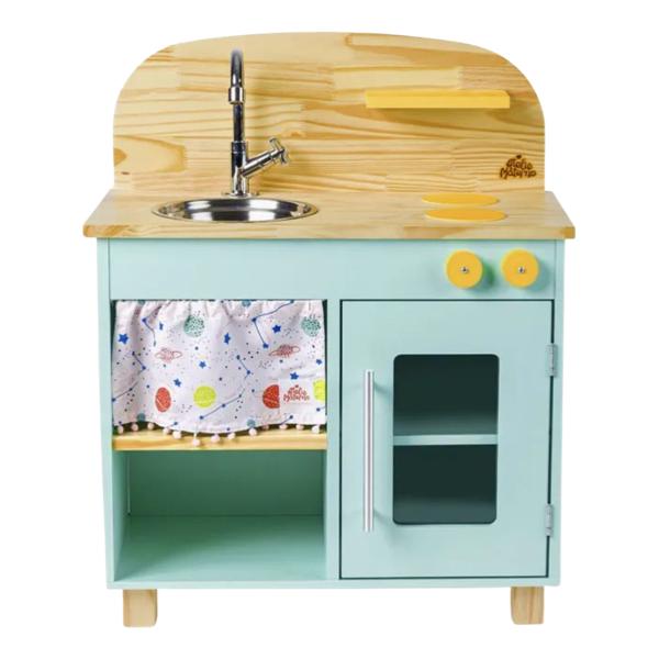 Mini Cozinha Verde-água