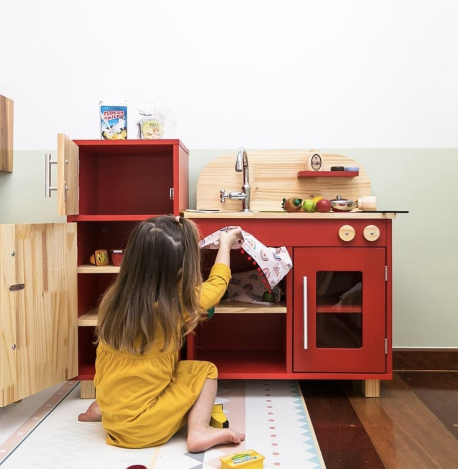 Mini Cozinha Vermelha