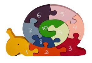 Quebra-cabeça Caracol Números