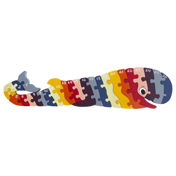 Quebra-cabeça Gigante Baleia Alfabeto e Números