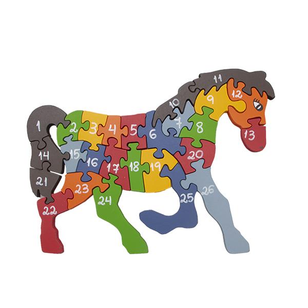 Quebra-cabeça Gigante  Cavalo Alfabeto e Números