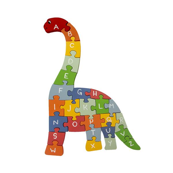 Quebra-cabeça Gigante Dinossauro Alfabeto e Números
