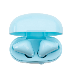 Fone bluetooth plástico com case carregador
