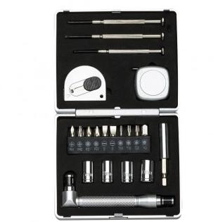 Kit ferramenta 21 peças com caixa de plástico resistente