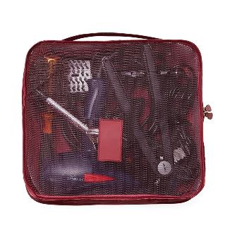 Kit necessaire com 6 peças confeccionadas em nylon