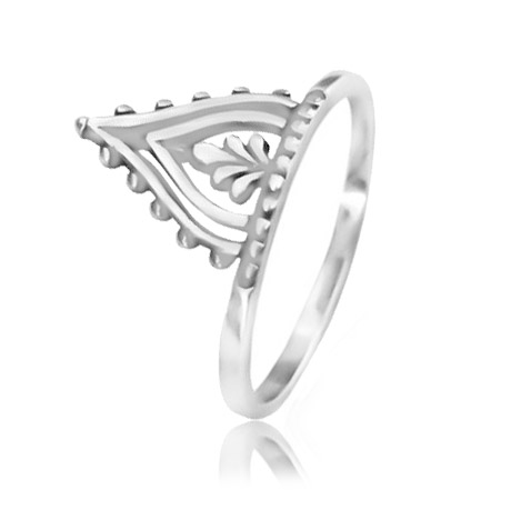 Anel Coroa Maori Prata Lisa