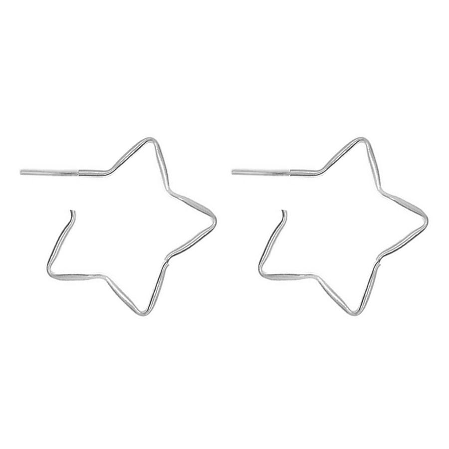 Argola De Prata Estrela Grande