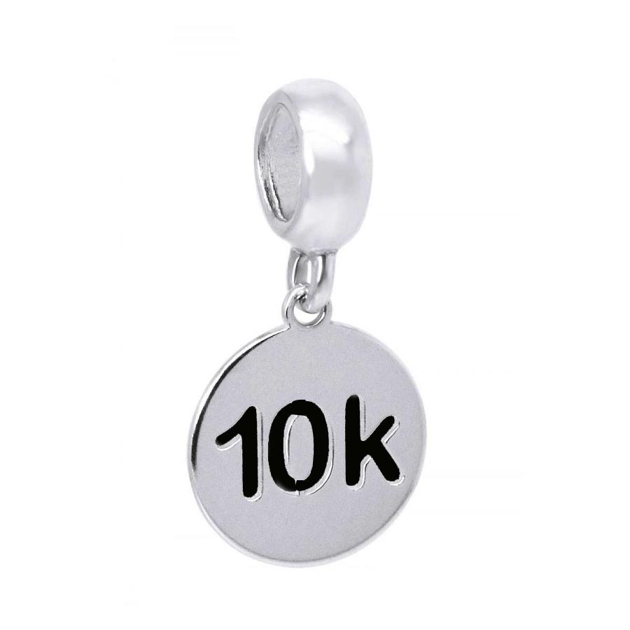 Berloque Medalha 10k Prata