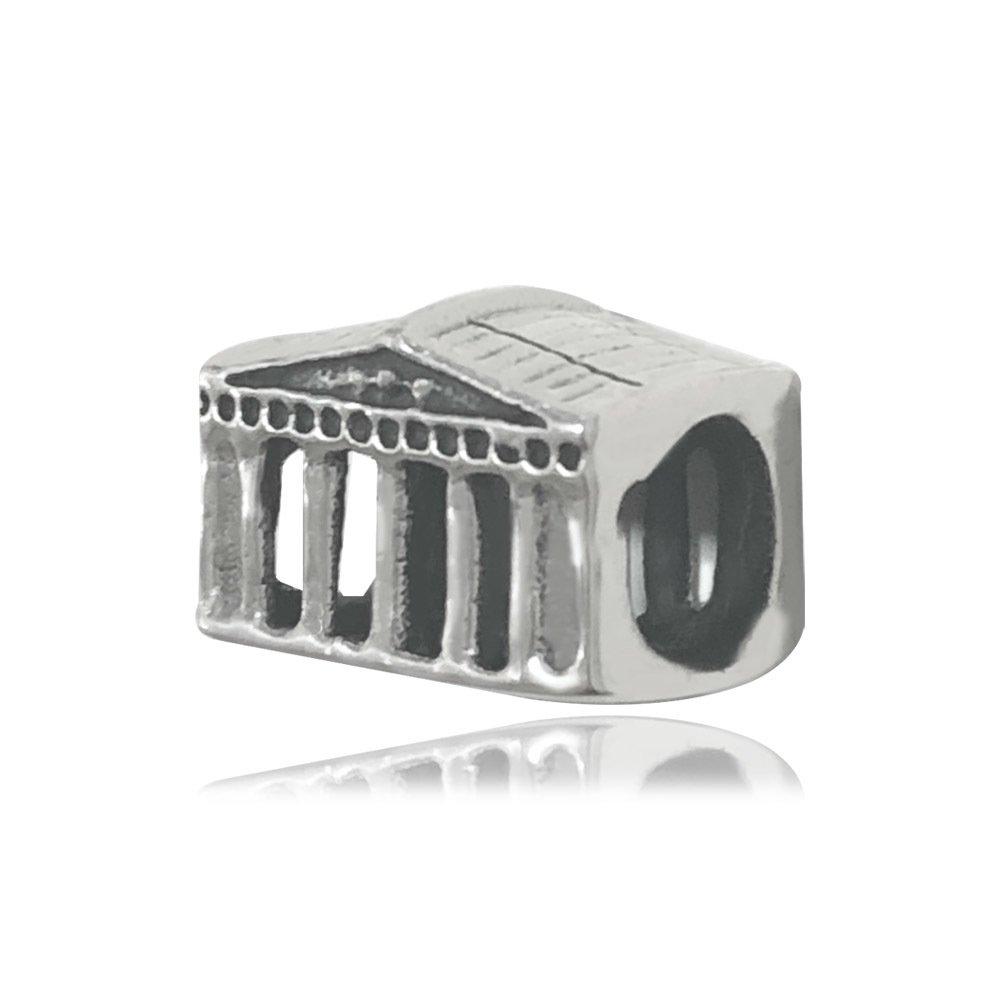 Berloque Panteão Romano Prata