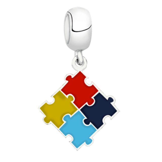 Berloque Simbolo do Autismo Prata