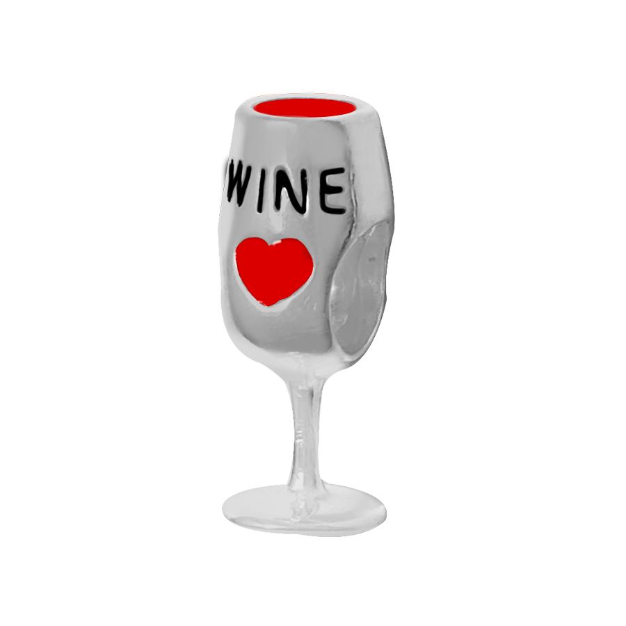 Berloque Taça de Vinho Prata