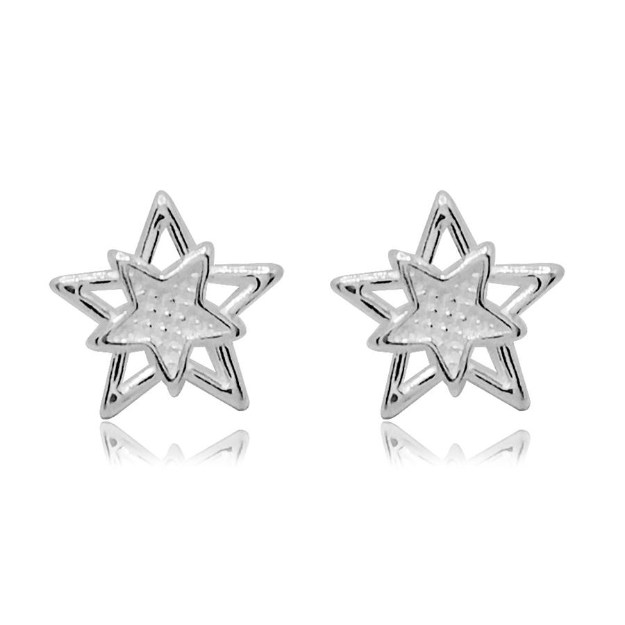 Brinco de Prata Estrelas