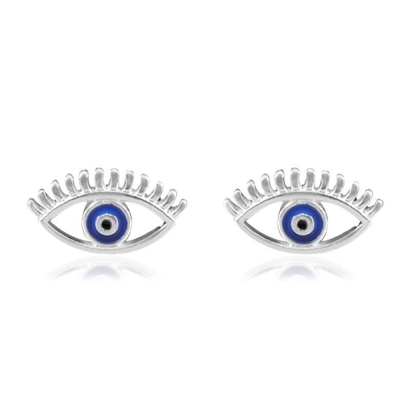 Brinco de Prata olho com cilios